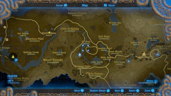 BotW Sheikah Slate Map (Lee)